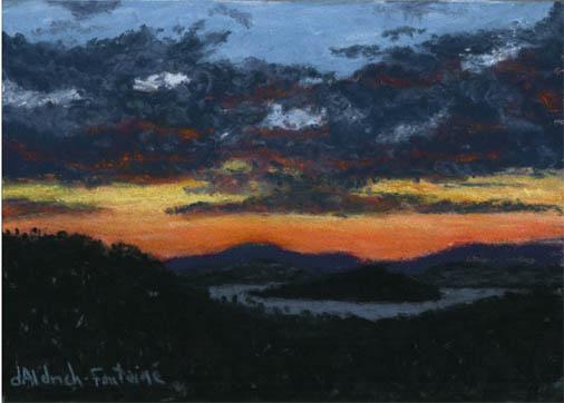 Sunset over Lake Winnipesaukee