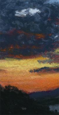 Sunset over Lake Winnipesaukee detail