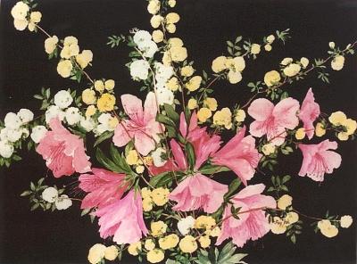 Azaleas, Etc. original watercolor painting by artist Fay Lee