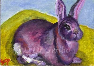 Big Bunny - Daily Paintings Animals by artist DJ Geribo